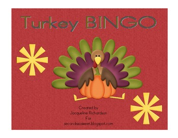 Turkey fry Word BINGO