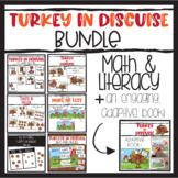 Turkey in Disguise Activities Bundle Math and Literacy Activities