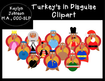 Turkey in Disguise Clipart
