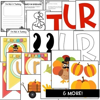 Turkeys in Disguise Thanksgiving Craftivity & Bulletin Board Kit!
