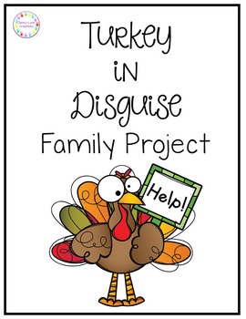 Turkey In Disguise Template Worksheets Teaching Resources Tpt