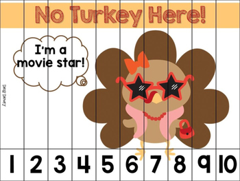 Turkey in Disguise Number Strip Puzzles {Thanksgiving}