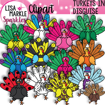 Turkey in Disguise Thanksgiving Clipart