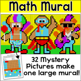 Turkey in Disguise Thanksgiving Math Mural Whole Class Mystery Pictures Activity