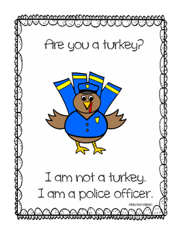 Thanksgiving activities-  Turkey in disguise- English