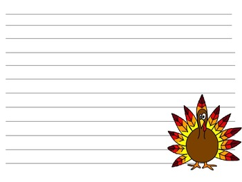 Turkey lined paper