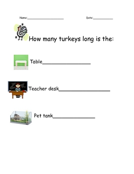 Turkey measuring sheet
