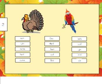 Turkey or Bird?  R-control Sort for SMART Board