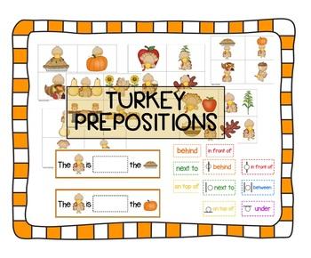Turkey prepositions -- great Thanksgiving / Fall activity