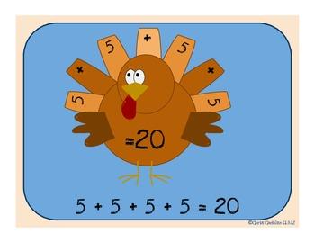 Turkey-Quations Common Core Math Activity