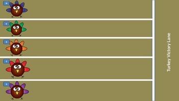 Turkey race board (lite version), PowerPoint Game
