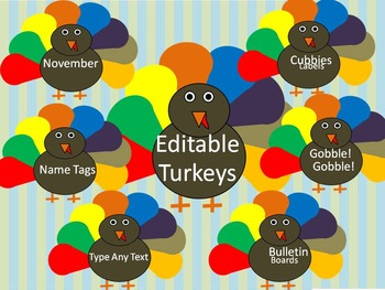 Turkey Editable Labels