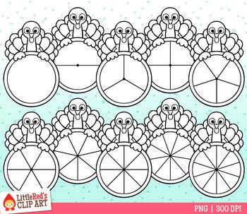 Turkey Spinners Thanksgiving Clip Art