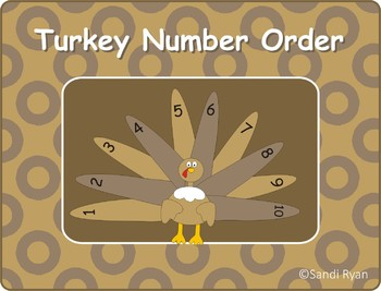 Turkey/Thanksgiving Number Order Craft