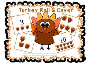 Turkey/Thanksgiving Roll and Cover 1-10
