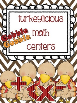 Turkeylicious Differentiated Math Centers