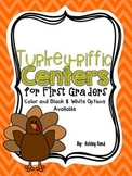 November Math and Literacy Centers for First Grade