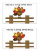 Thanksgiving Activities Turkeys Emergent Reader Positional Words Turkey Activity