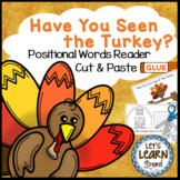 Turkey / Thanksgiving Activities Emergent Reader, Cut & Paste Distance Learning