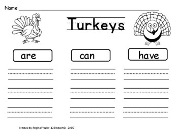 Turkeys, Writing Activities, Graphic Organizers, Diagram