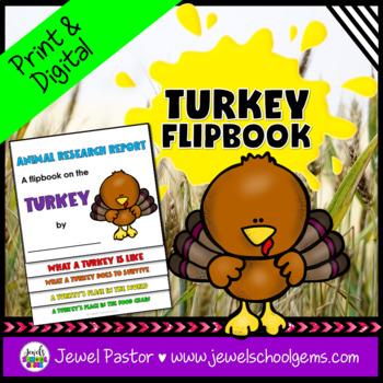 Thanksgiving Science Activities (Turkey Research Flipbook)