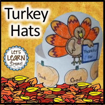 Turkey Hats, I am Thankful For Thanksgiving Activities,Thanksgiving Hats