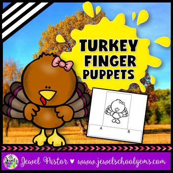 Turkey Crafts (Thanksgiving Craftivities Finger Puppets)