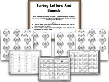Turkeys! BLACKLINE Thanksgiving Math And Literacy Center Creation!