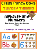 Turkeys Alphabet and Numbers Crazy Punch Dot Center for Fi