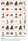 Turkeys And Friends Patterning Worksheet