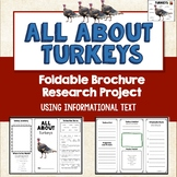 Turkeys, Brochure Project, Informational Text, Vocab, Diagrams, Thanksgiving