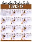 Turkeys Binder- Independent Work Binder System