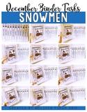 Snowmen Binder- Independent Work Binder System
