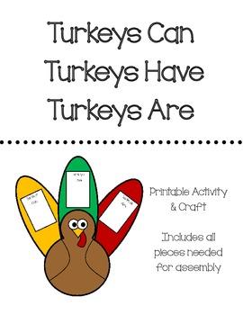 Turkeys Can, Have, Are (Turkey Activity & Craft)
