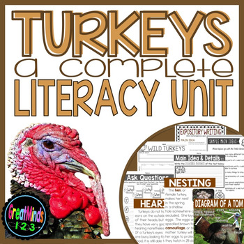 Turkeys - Common Core Non-fiction Unit {Thanksgiving Reading and Writing}