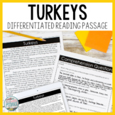 Turkeys Differentiated Reading Passage & Context Clues Activities