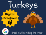 Turkeys - Digital Breakout! (Distance Learning, Google Cla