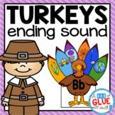 Turkeys Ending Sound Match-Up