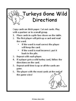 Turkeys Gone Wild: A CVC Word Reading Game
