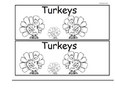Turkeys Guided Reading and Writing Booklet Level 1