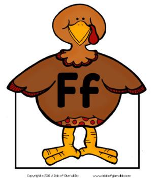 Turkeys Initial Sound Match-Up