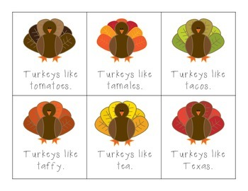 Turkeys Like... T Articulation Practice!