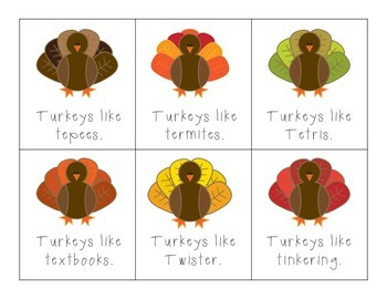 Turkeys Like... T Articulation Practice!