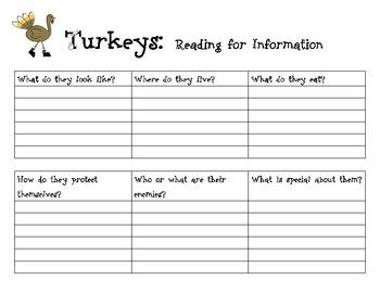 Turkeys: Read for Information