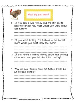 Turkeys!  Read to Learn!