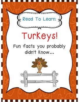 Turkeys!  Read to Learn!