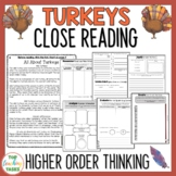 Turkeys Reading Comprehension Passage and Questions | Thanksgiving