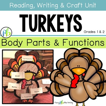 Turkeys ~ Science, Reading, Writing, Craft Unit (Body Part