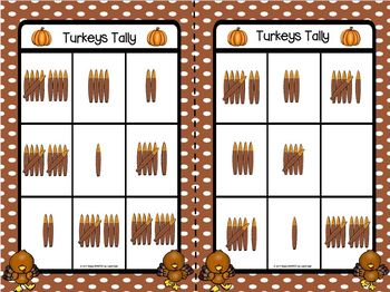 Turkeys Tally:  LOW PREP Thanksgiving Themed Tally Mark Bingo
