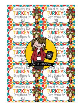 Turkeys / Thanksgiving Tag